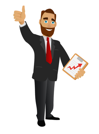 Successful businessman vector illustration. 向量圖像