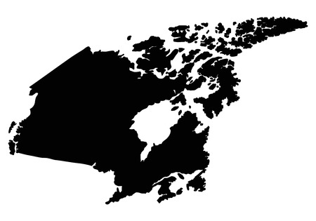Canada map outline vector.