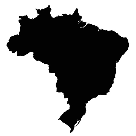 Brazil map outline vector isolated on white background 向量圖像