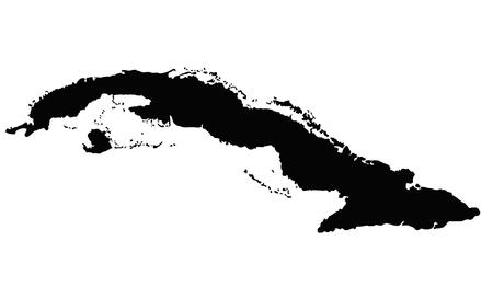 Cuba map vector outline.