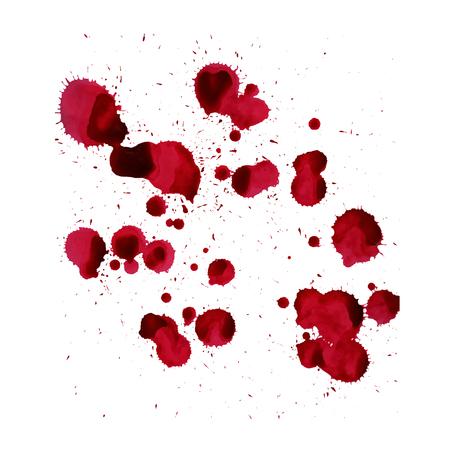 Salpicaduras de sangre Vector de la imagen aislada en un fondo blanco. Ilustración de vector