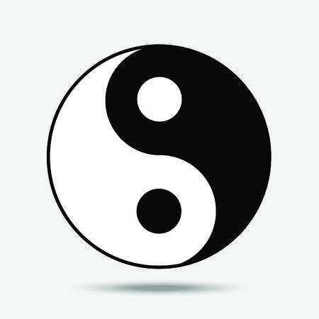 Yin yang symbol of Taoism. Illustration isolated on white. 向量圖像