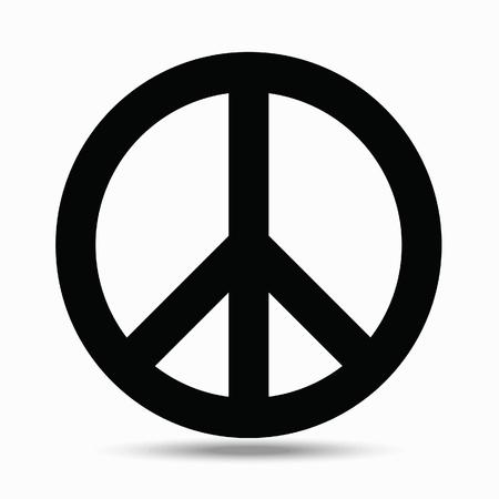 Symbols pacifism. Illustration on white background.