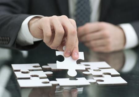 ビジネス ソリューション、成功と戦略の概念。実業家 ha