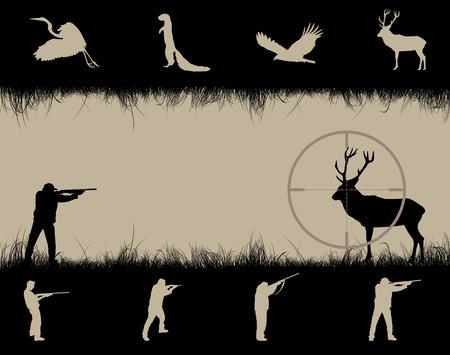 snajper: Ramki z snajper wzroku, zwierzÄ™ta i myÅ›liwych, ilustracji