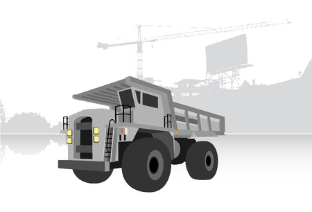 quarry: gray quarry truck, illustration