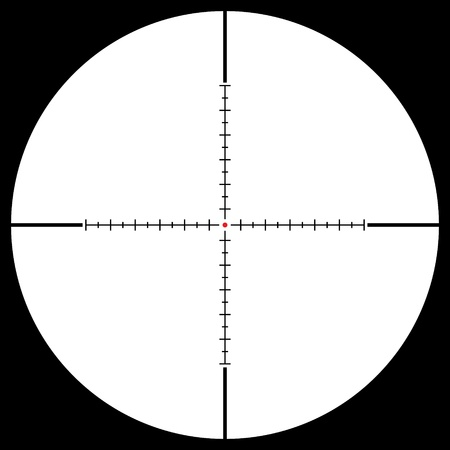 gun sight: Isolated sniper sight, vector illustration Illustration