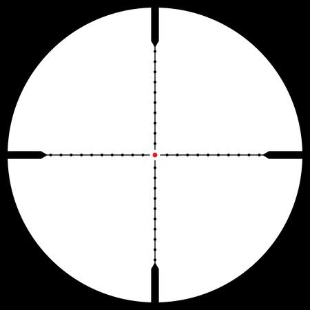 tiro al blanco: Vista de francotirador aislado, ilustraci�n vectorial Vectores