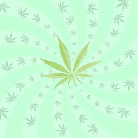 torsion: Cannabis torsion pattern, vector illustration