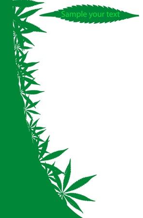 ganja: Cadre de cannabis, qui peut �tre utilis� comme une page =) illustration de vecteurs.