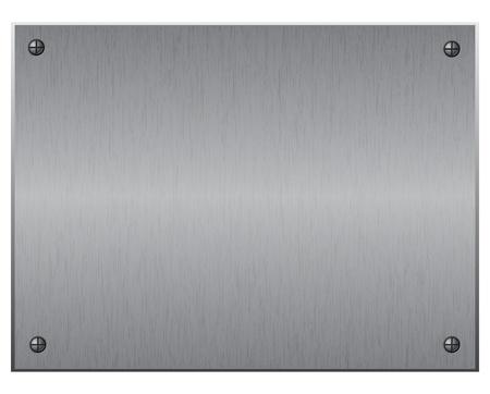 Silber Metallplatte mit Schrauben, Vektor-illustration