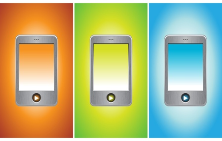 MP3 player on different backgrounds, vector illustration Stock Vector - 9542957