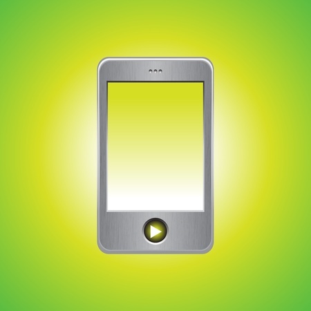 MP3 player on green background, vector illustration Stock Vector - 9542948