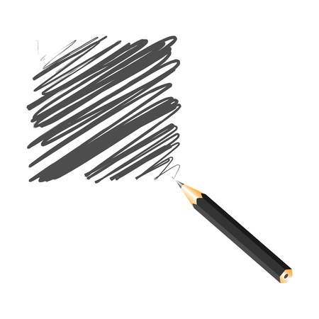 Black handwritten square, vector illustration Stock Vector - 9542372