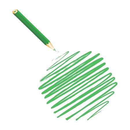 Green handwritten hexagon, vector illustration Stock Vector - 9542354