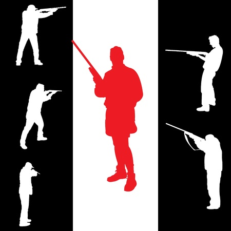 hunters: Hunters silhouettes for you design, vector illustration