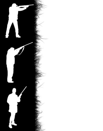 Hunter's frame on white background, vector illustration