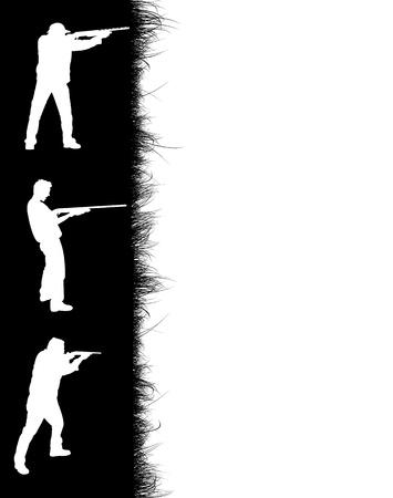 Hunters frame on white background, vector illustration Vector