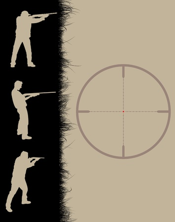 hunters: Hunters frame with sniper sights, vector illustration