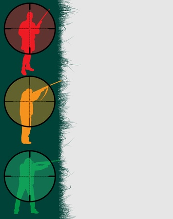 Hunter's frame with sniper sights, vector illustration Stock Vector - 9542876