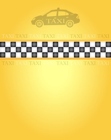 Taxi banner for your design, vector illustration