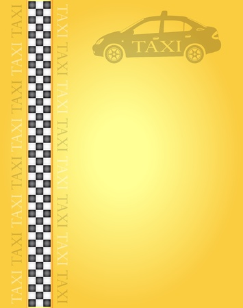 yellow cab: Taxi banner for your design, vector illustration