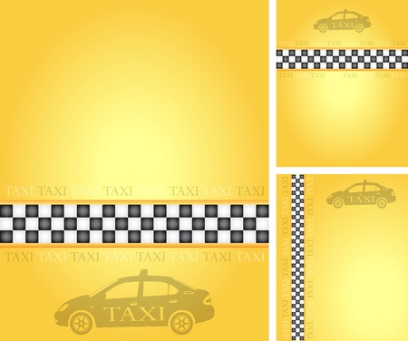 Set of taxi banners, vector illustration