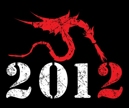 Painted under the influence of How  to Train Your Dragon=) Happy new year! This is vector illustration, eps10 Vector