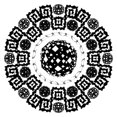 Abstract circular arabesque. Stock Vector - 10057869