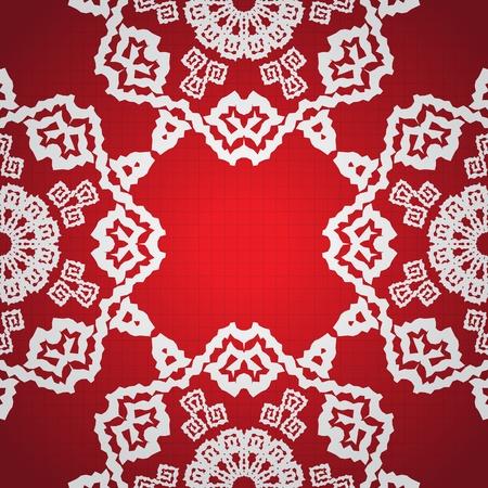 Christmas seamless arabesque. Stock Vector - 10057864