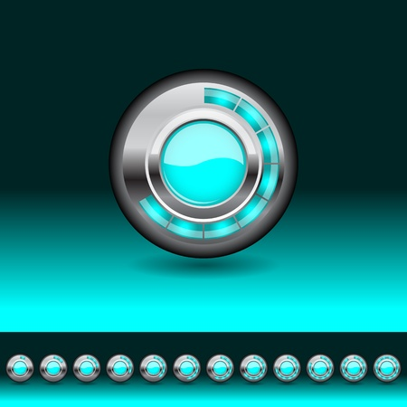 Loading button for your website, vector illustration, eps10 Vector