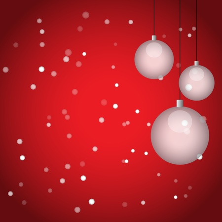 Christmas balls and snowflakes, vector illustration  Vector
