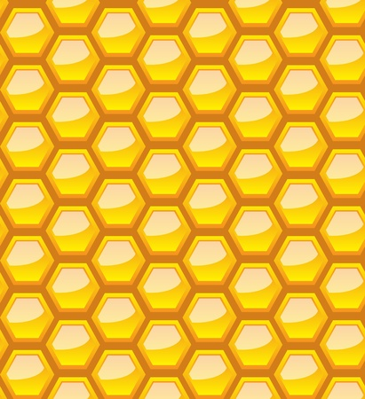 Seamless honeycomb pattern. Vector
