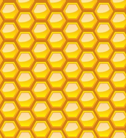 Seamless honeycomb pattern. Vector