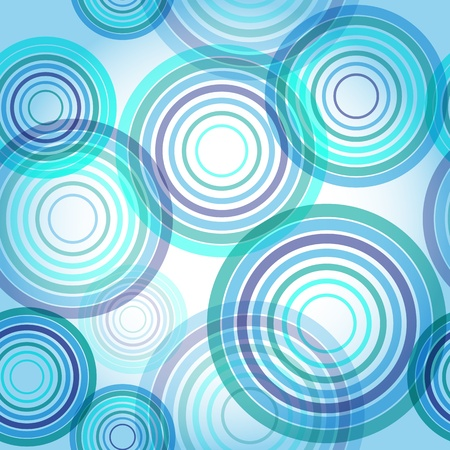 Abstract seamless background made of set of rings. Vector