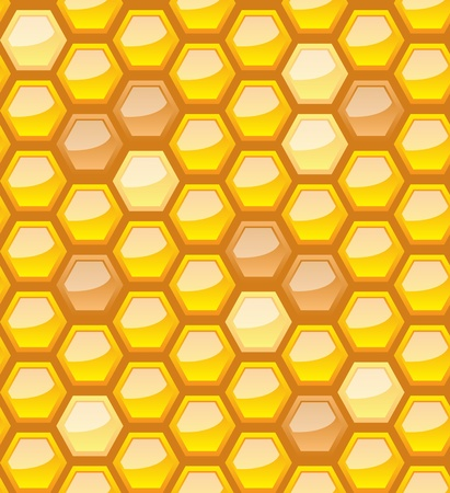 Seamless honeycomb pattern, vector illustration, eps10, 3 layers Vector