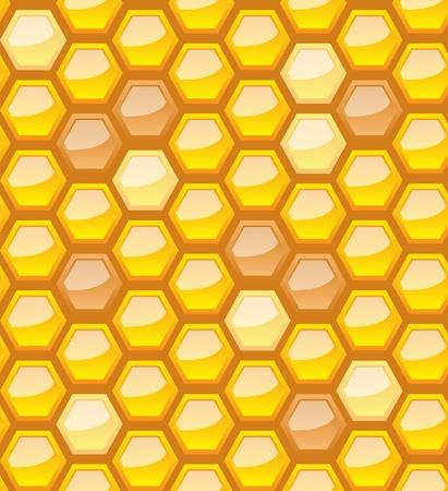 chamber: Seamless honeycomb pattern, vector illustration, eps10, 3 layers Illustration