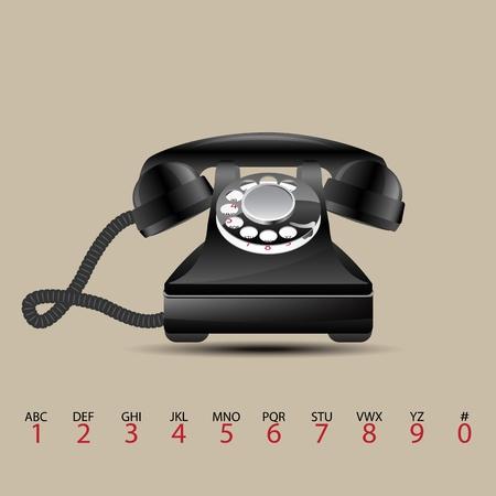 Glossy retro phone, vector illustration, eps10 Stock Vector - 12054223