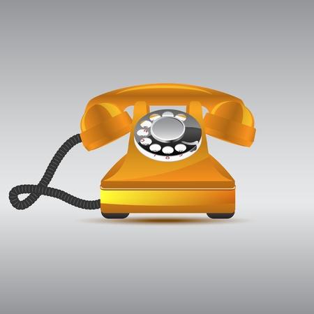 Glossy retro phone, vector illustration, eps10 Stock Vector - 12054222