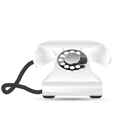 Glossy retro phone, vector illustration, eps10 Stock Vector - 12054221