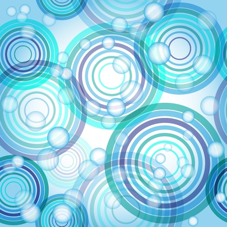 Abstract seamless background made of set of rings and balls, vector illustration, eps10, 3 layers 向量圖像