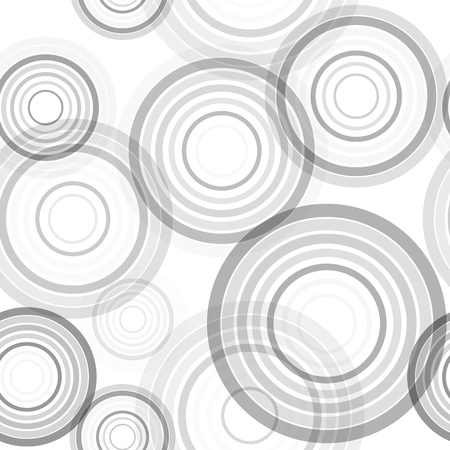 Abstract seamless background made of set of rings, vector illustration, eps10, 2 layers Illustration