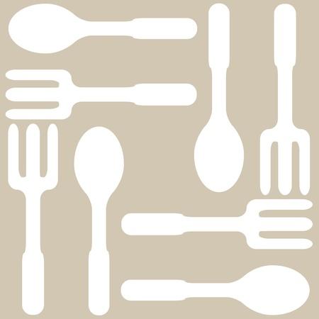 Seamless kitchen background, vector illustration, eps10 Vector