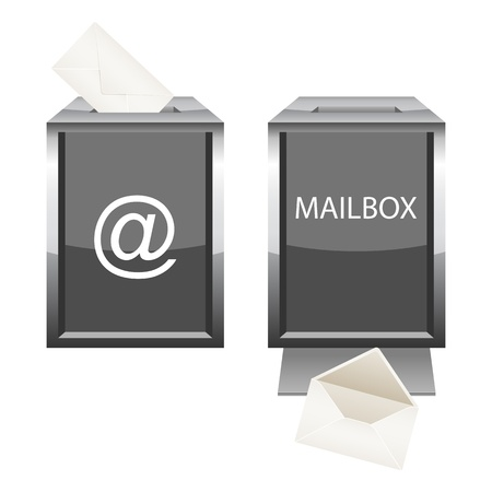 messege: Glossy mailbox with envelope.