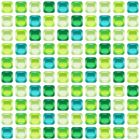 Green mosaic seamless background. Stock Vector - 12391653