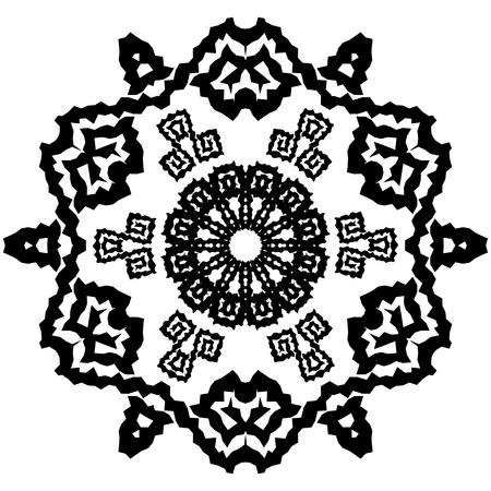 Abstract snowflake arabesque. Stock Vector - 12391661