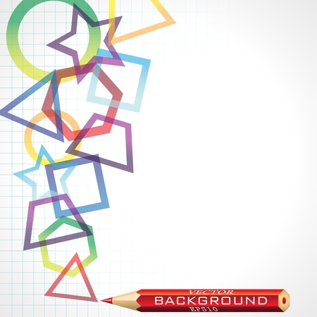 Abstract geometric background, vector illustration. Vector