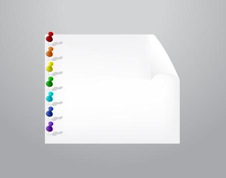 tachuelas: Hoja de papel con tachuelas.