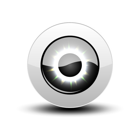 Black eye icon with shadow on white. Stock Vector - 12391711