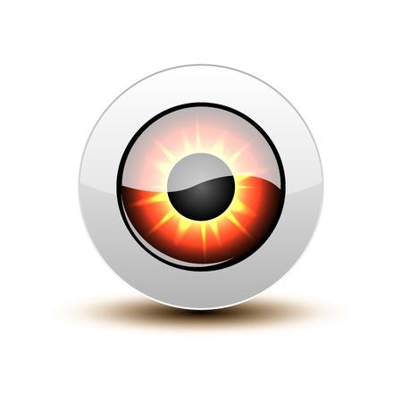 eye shadow: Orange eye icon with shadow on white.
